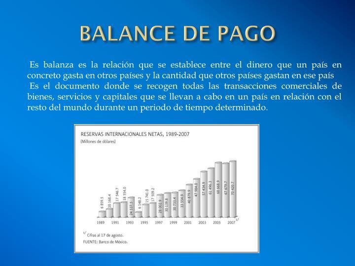 BALANCE DE PAGO