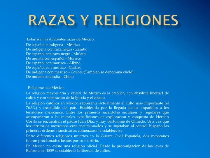 RAZAS Y RELIGIONES