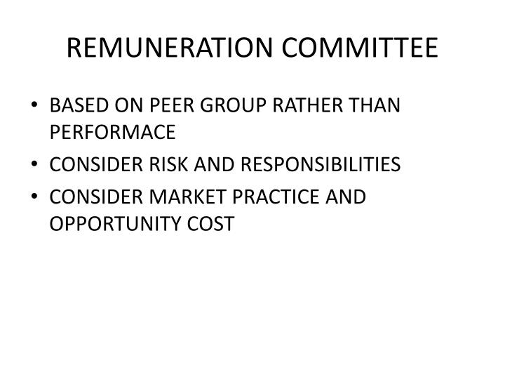 Remuneration committee