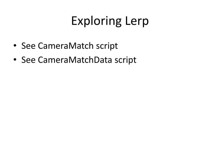 Exploring Lerp