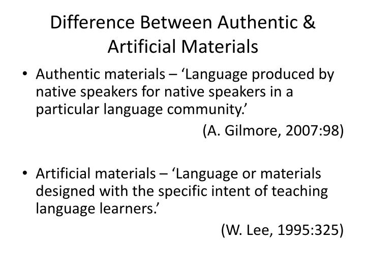 Difference Between Authentic & Artificial Materials