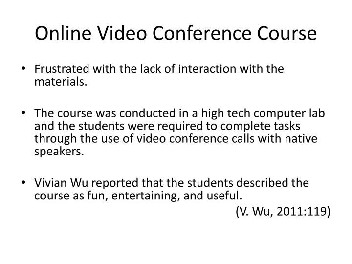 Online Video Conference Course