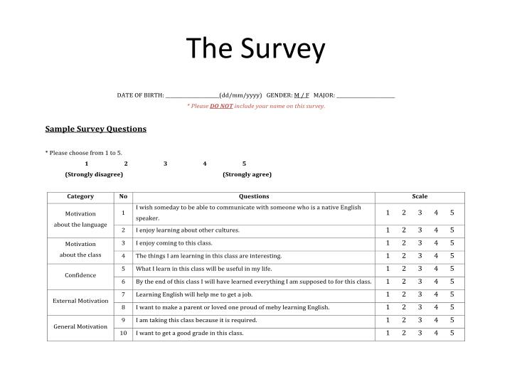 The Survey