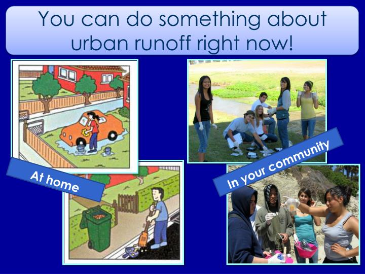 You can do something about urban runoff right now!