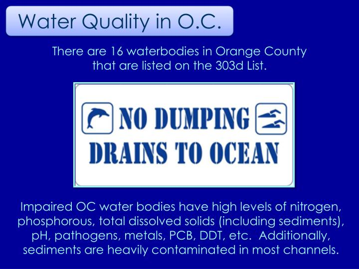Water Quality in O.C.