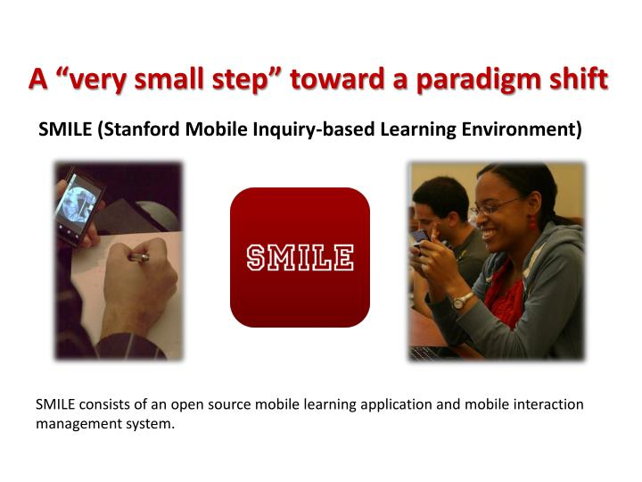 "A ""very small step"" toward a paradigm shift"
