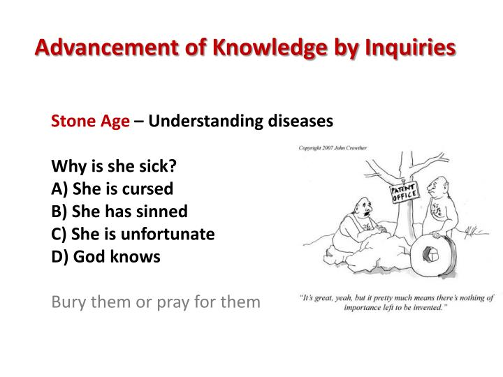 Advancement of Knowledge by Inquiries