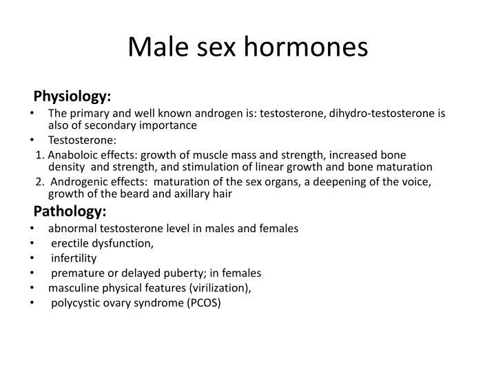 Male sex hormones