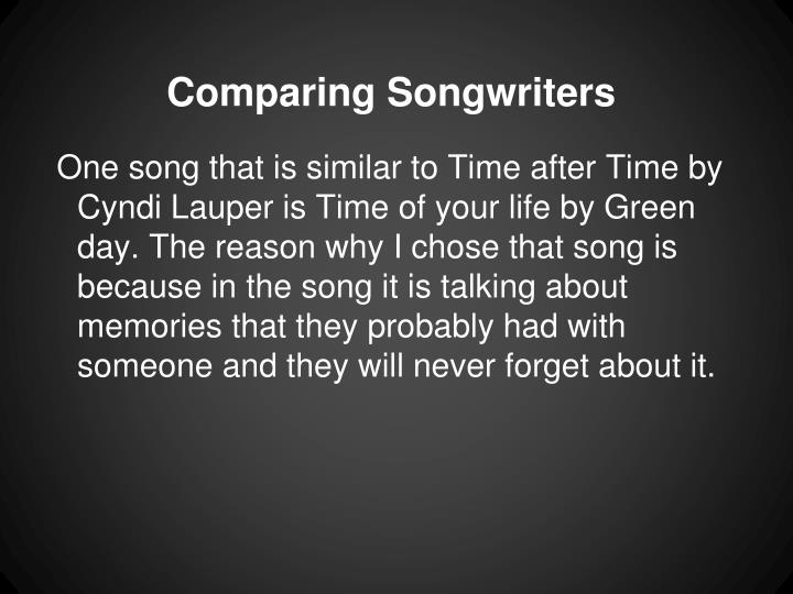 Comparing Songwriters