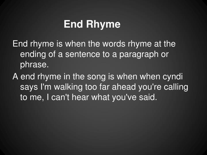 End Rhyme