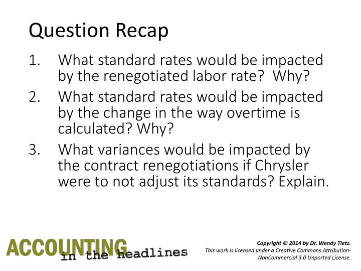 Question Recap