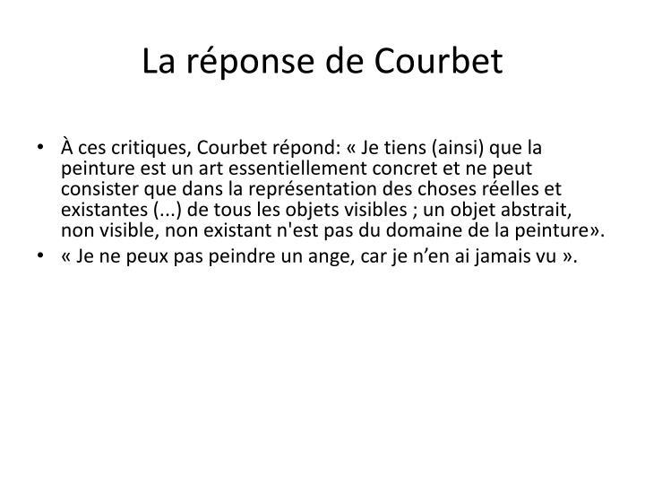 La réponse de Courbet