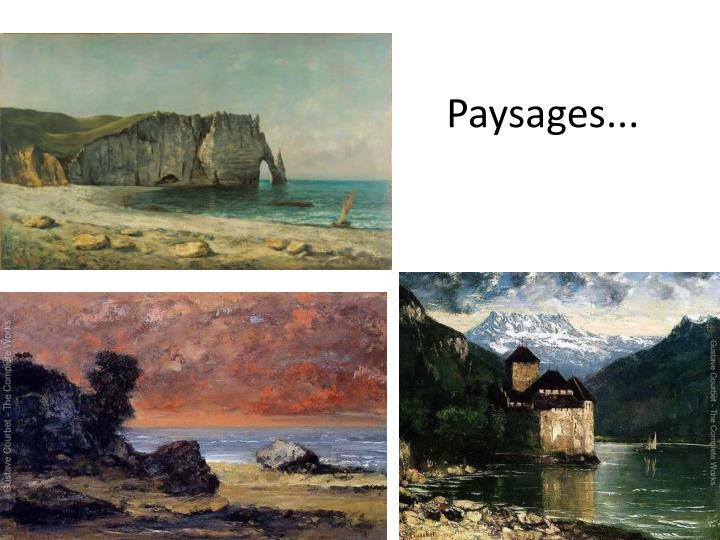Paysages...