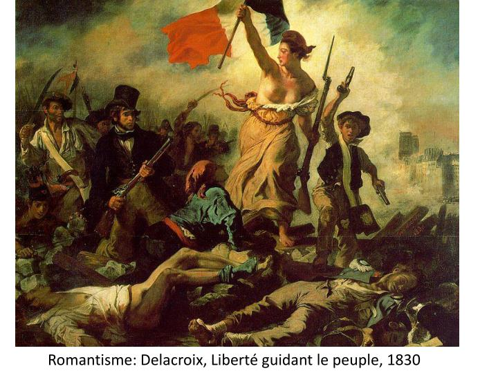 Romantisme delacroix libert guidant le peuple 1830