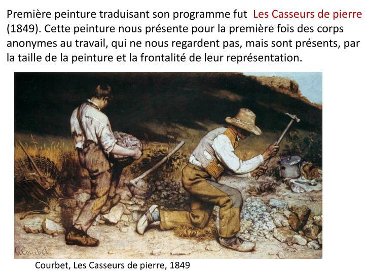 Première peinture traduisant son programme fut