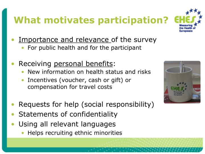 What motivates participation?