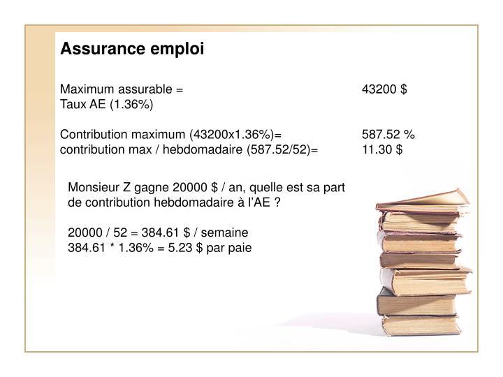 Assurance emploi