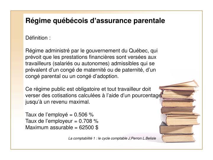 Régime québécois d'assurance parentale