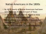 native americans in the 1800s