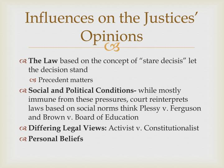 Influences on the Justices' Opinions