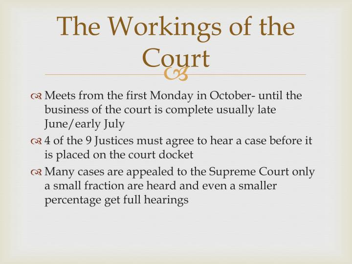 The Workings of the Court