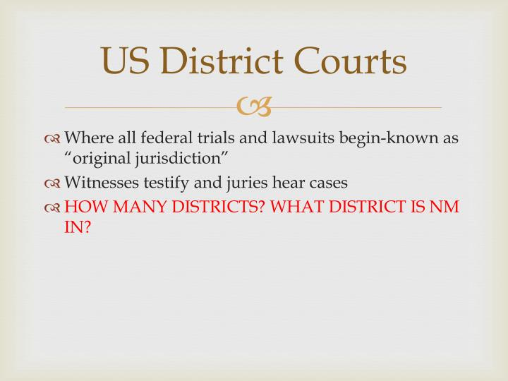US District Courts