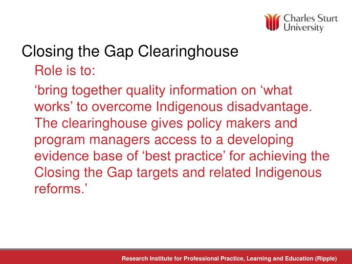 Closing the Gap Clearinghouse