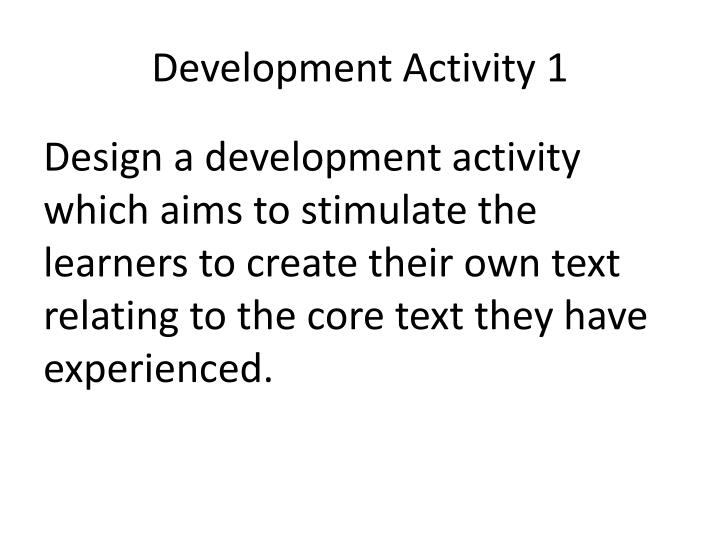 Development Activity 1