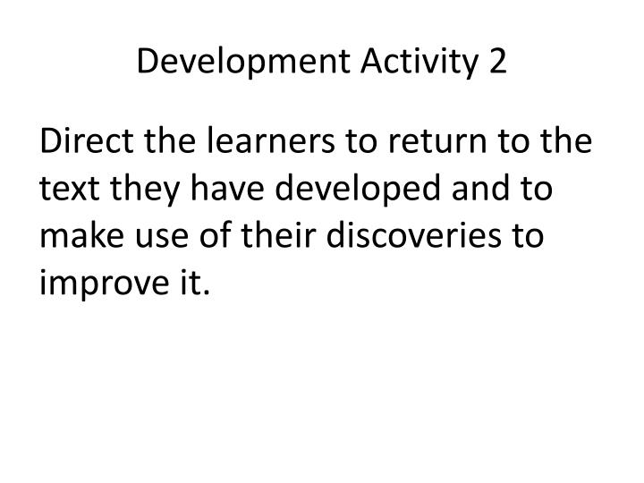 Development Activity 2