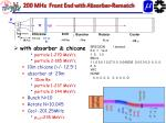 200 mhz front end with absorber rematch