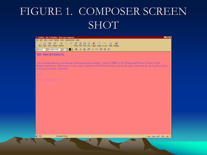FIGURE 1.  COMPOSER SCREEN SHOT