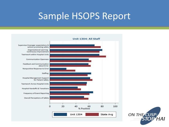 Sample HSOPS Report