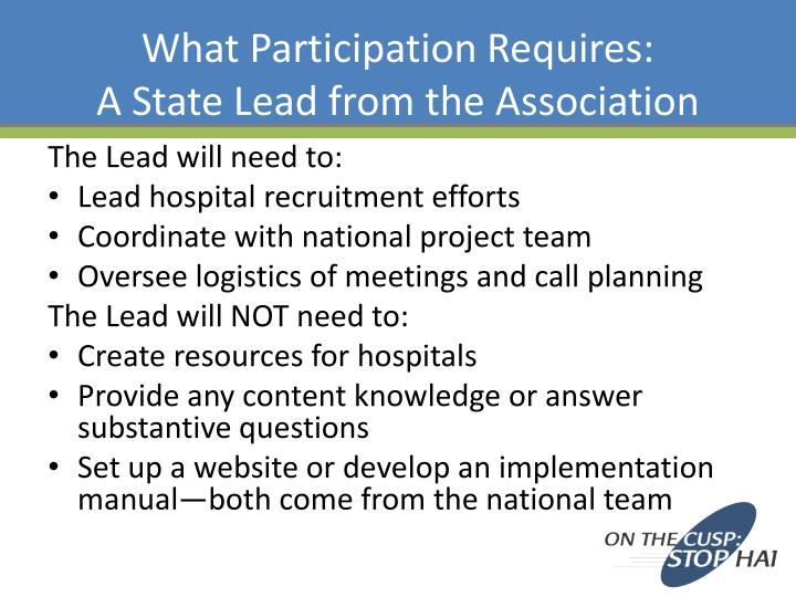 What Participation Requires: