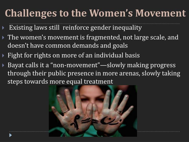 Challenges to the Women's Movement