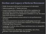 decline and legacy of reform movement