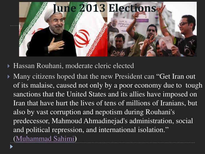 June 2013 Elections
