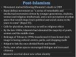 post islamism