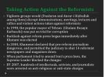taking action against the reformists