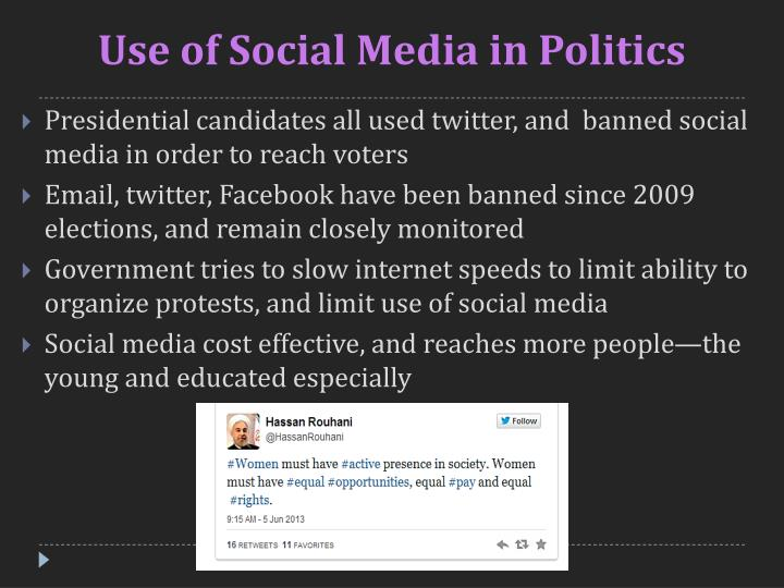 Use of Social Media in Politics