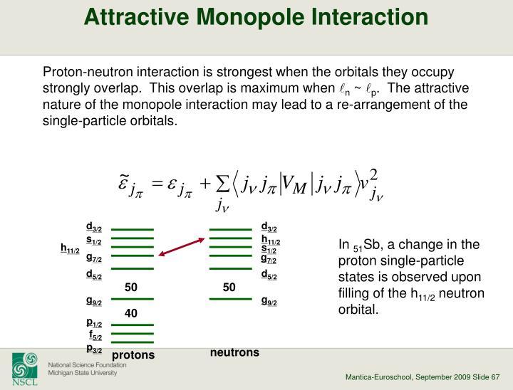 Attractive Monopole Interaction