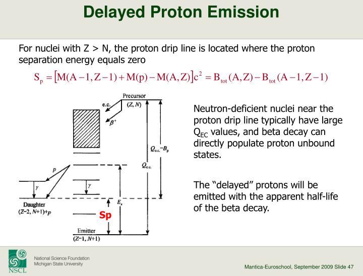 Delayed Proton Emission