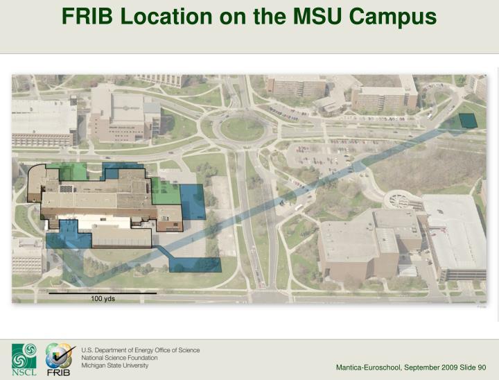 FRIB Location on the MSU Campus