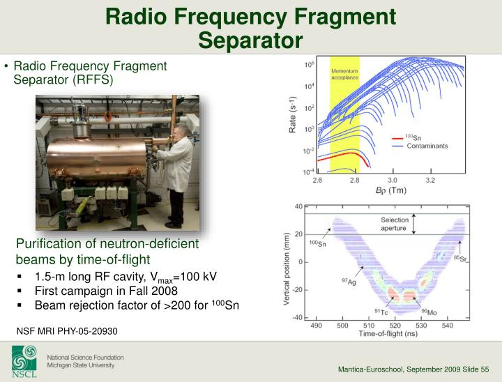 Radio Frequency Fragment Separator