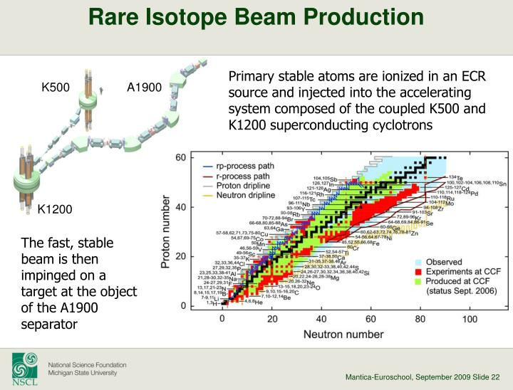 Rare Isotope Beam Production