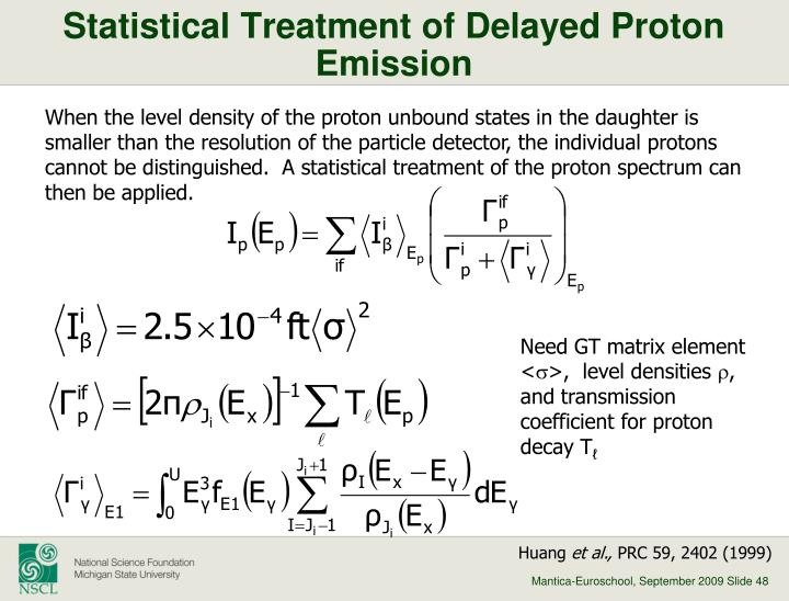 Statistical Treatment of Delayed Proton Emission