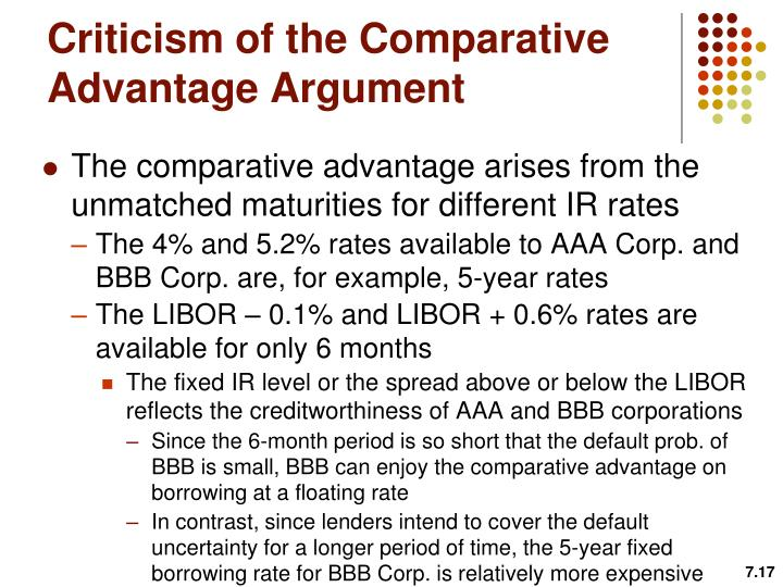 Criticism of the Comparative Advantage Argument