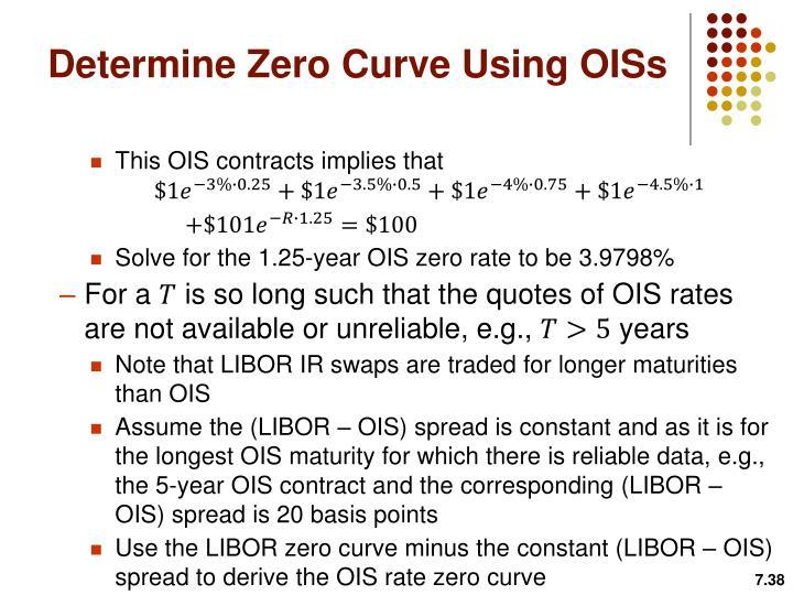 Determine Zero Curve Using OISs