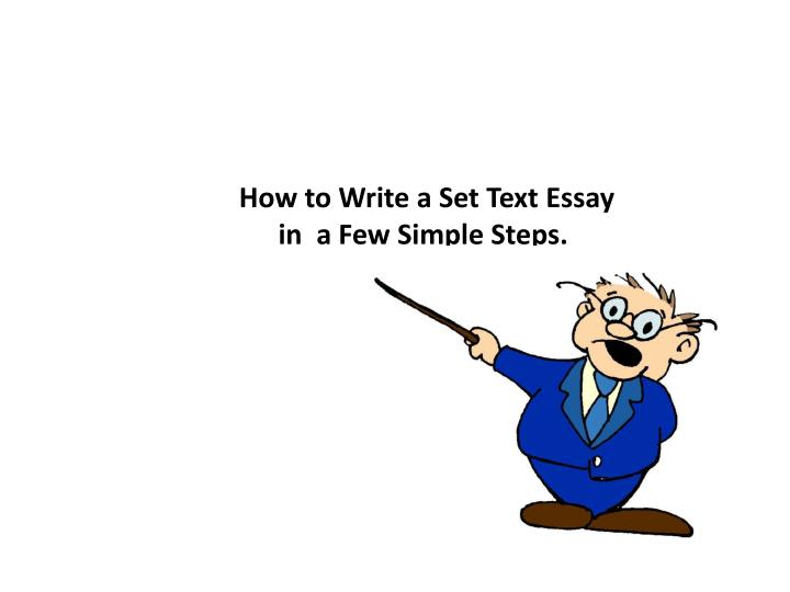 How to Write a Set Text Essay