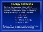 energy and mass
