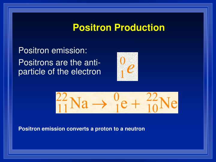 Positron Production